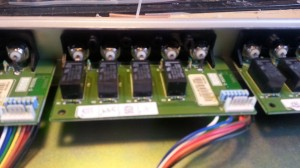 internal view of one of the switch modules